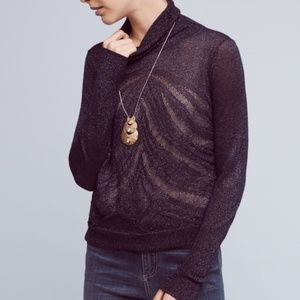Angel of the North Metallic Turtleneck Sweater